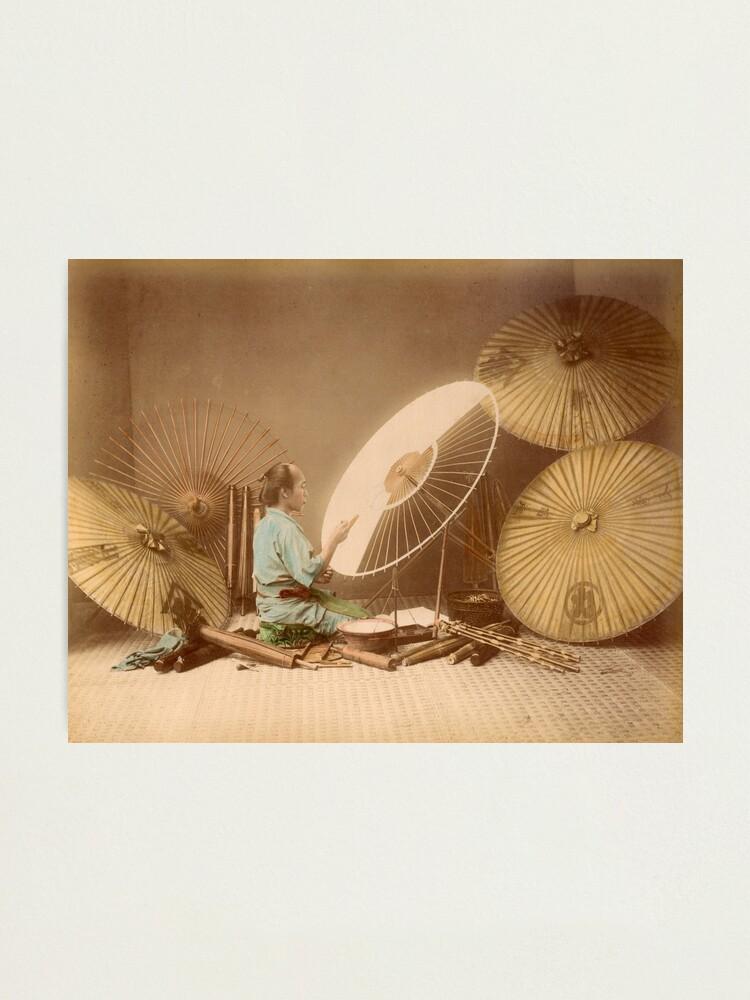 Alternate view of The umbrella maker, 1870s Photographic Print