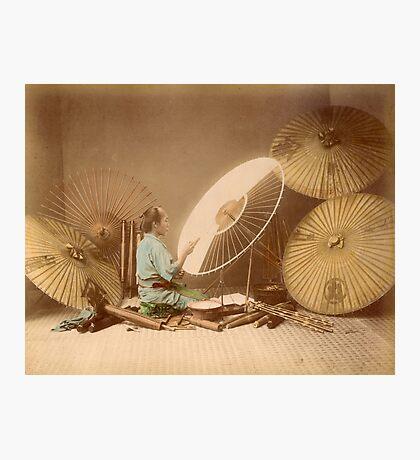 The umbrella maker, 1870s Photographic Print