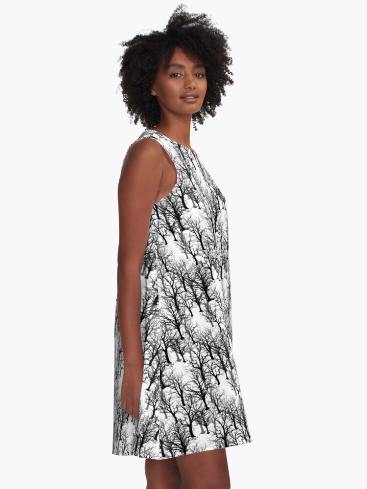 Alternate view of Black Trees - Twin Peaks Inspired A-Line Dress