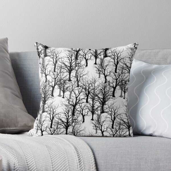 Black Trees - Twin Peaks Inspired Throw Pillow