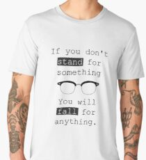 Malcolm X Quote With Spectacles  Men's Premium T-Shirt