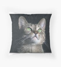 Dyna the cat Throw Pillow