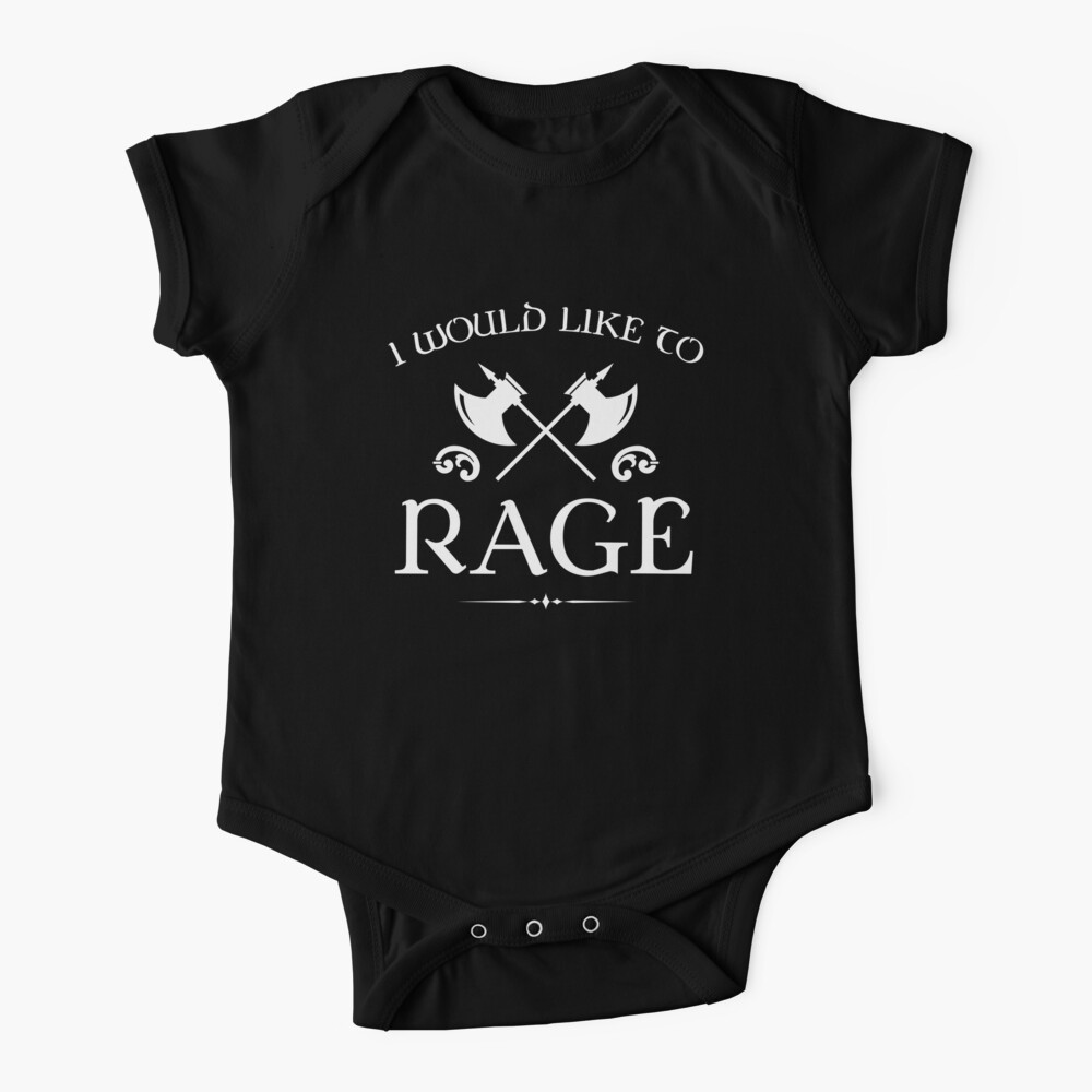 Barbarian - I Would Like To Rage Baby One-Piece