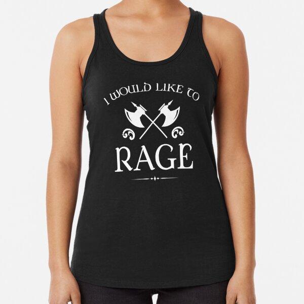 Barbarian - I Would Like To Rage Racerback Tank Top