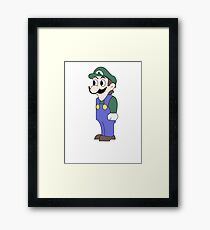 Weegee staring into your soul Framed Print