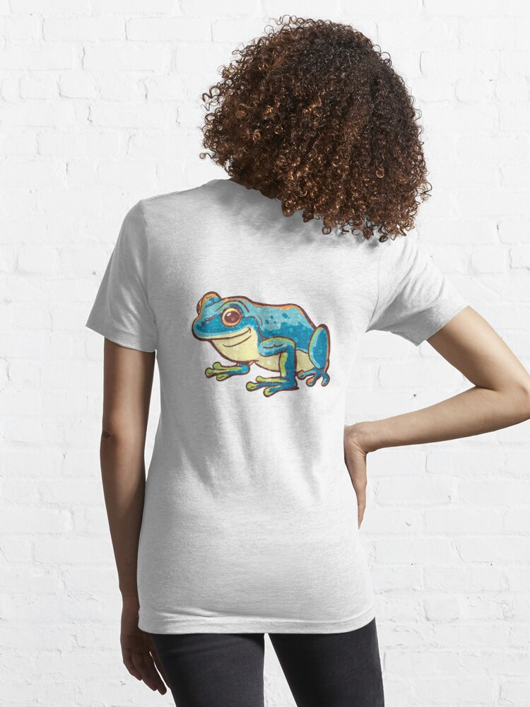 Alternate view of blue frog Essential T-Shirt