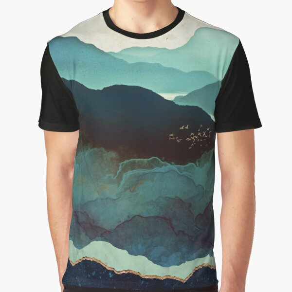 Indigo Mountains Graphic T-Shirt
