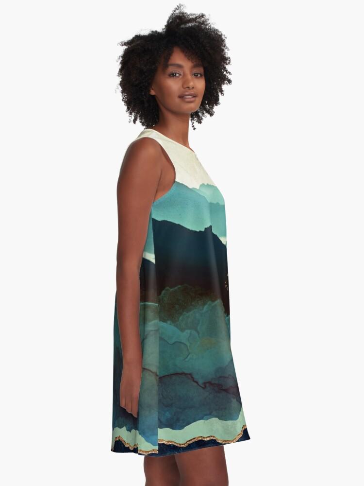 Alternate view of Indigo Mountains A-Line Dress