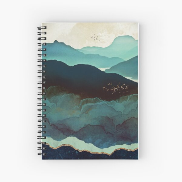 Indigo Mountains Spiral Notebook
