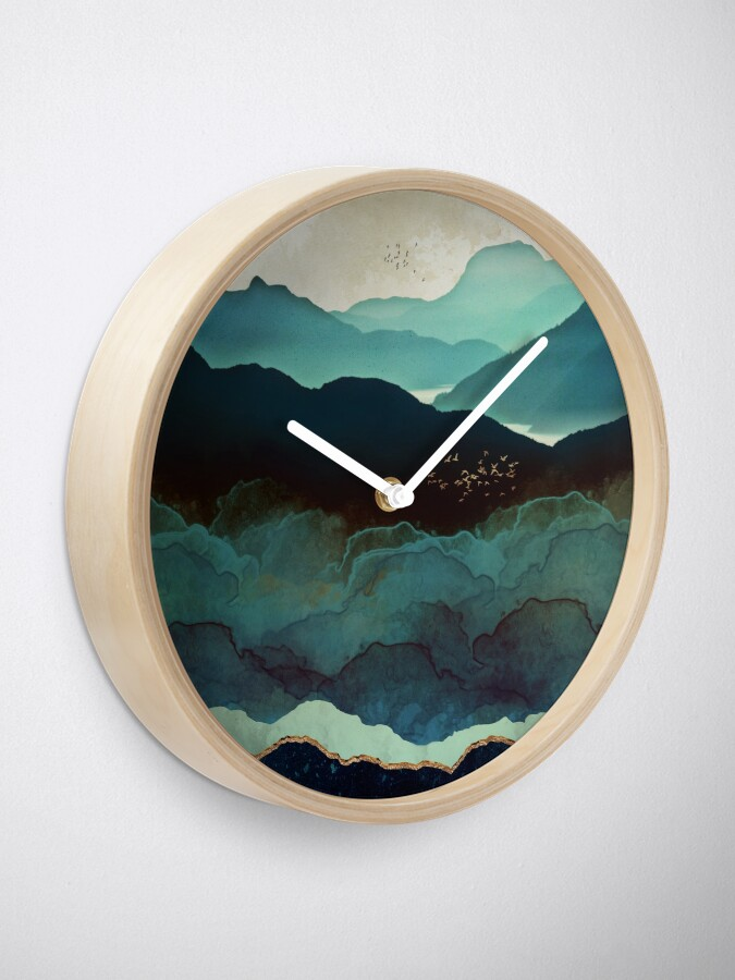 Alternate view of Indigo Mountains Clock