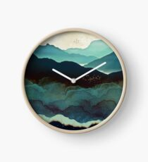 Indigo Mountains Clock