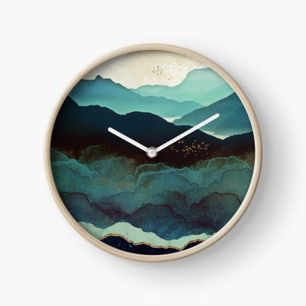 Indigo Mountains Clock