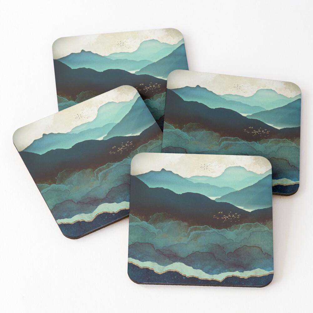 Indigo Mountains Coasters (Set of 4)