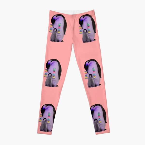 Penguin Family with Macarons by Alice Monber Leggings