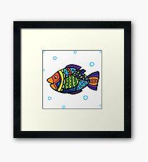 bright colored sea fish Framed Print