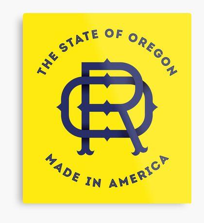 OR Oregon Monogram Metal Print