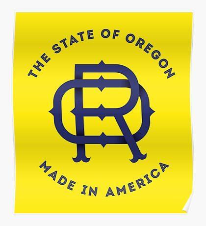 OR Oregon Monogram Poster