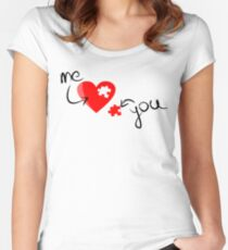 You Complete Me - Valentine Heart Women's Fitted Scoop T-Shirt