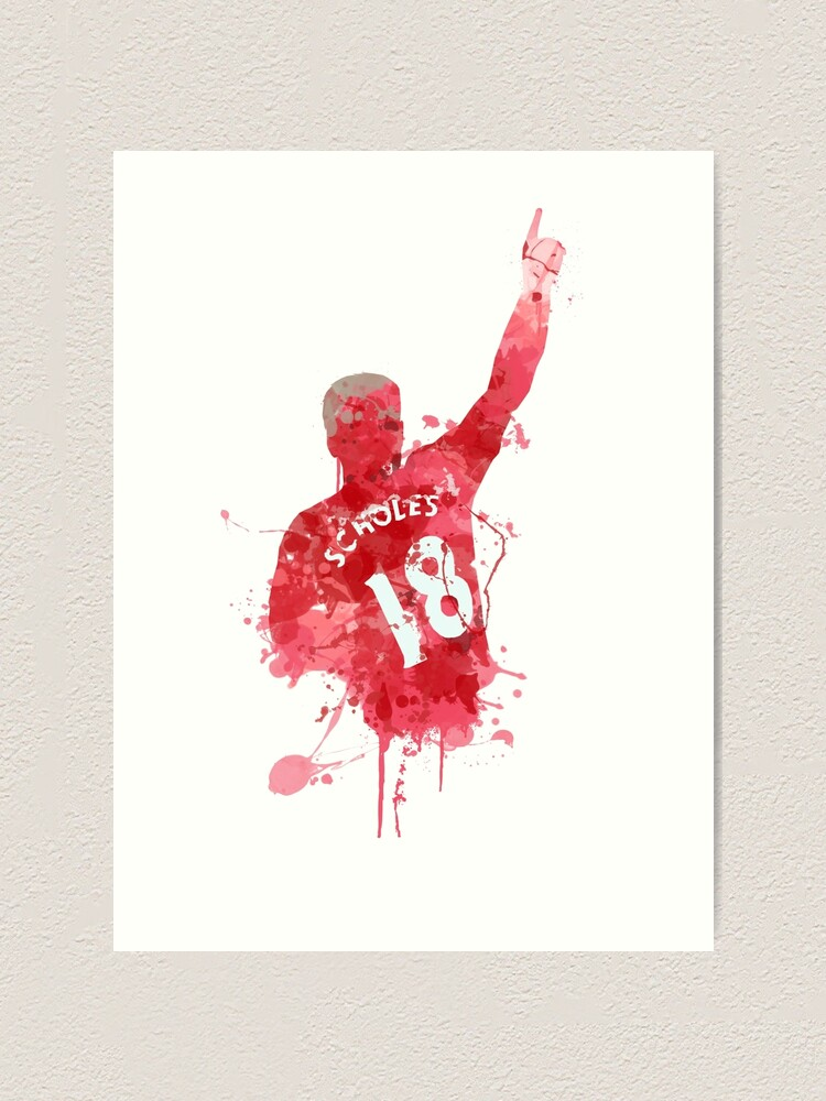 Paul Scholes Manchester United Legend Art Art Print By Footballarcade Redbubble