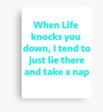 Take a nap Canvas Print