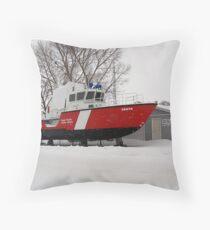 snowed in coast guard Throw Pillow
