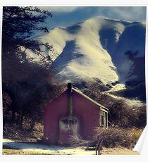 Red Hut, White Smoke Poster
