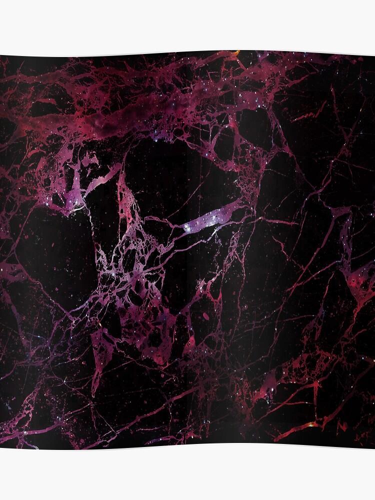 Texture de galaxie de marbre - galaxie rouge   Poster