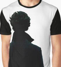 Sherlock Holmes Black Silhouette Graphic T-Shirt