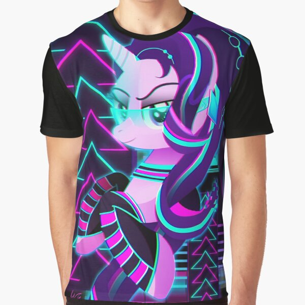 Synthwave Starlight Glimmer Graphic T-Shirt