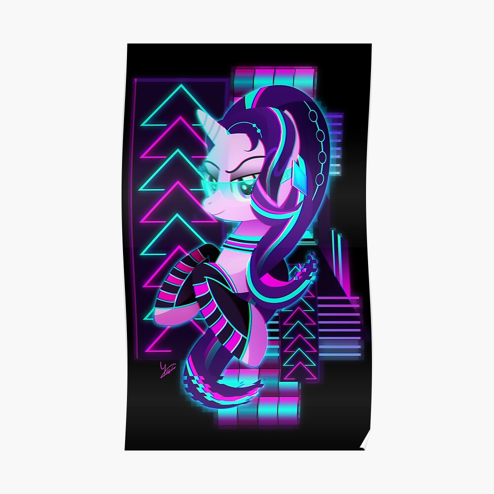 Synthwave Starlight Glimmer Poster