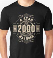 Birthday 18: 2000 a Star was born Unisex T-Shirt