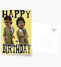 Happy Birthday Flight Conchords Postcards