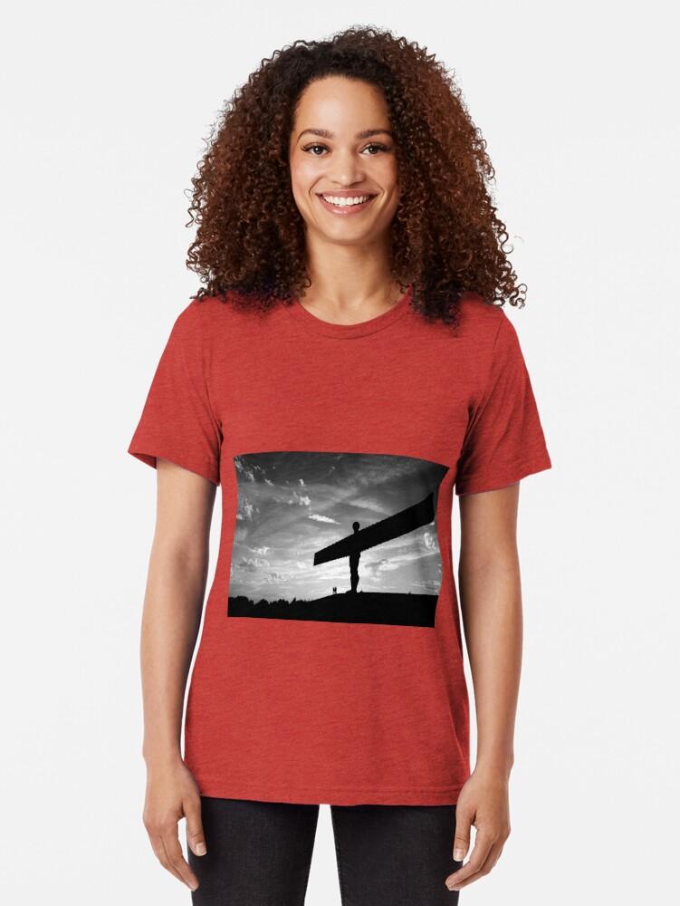 Alternate view of Angel Of The North, Newcastle-Gateshead Tri-blend T-Shirt