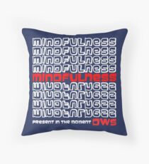 Mindfulness Present in the Moment Throw Pillow