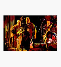 Rock Band on Stage. Photographic Print