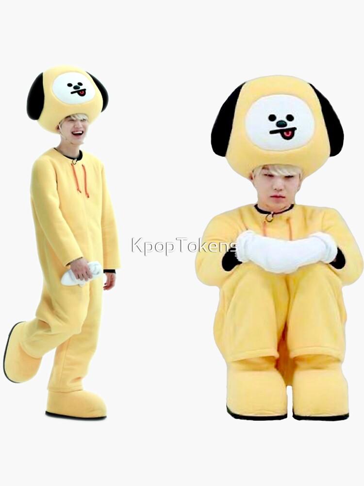 Yoongi BTS Suga BT21 Ejecutar ep 38 Chimmy Disfraz de disfraz lindo conjunto de KpopTokens