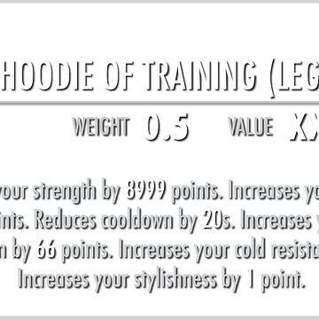 Sacred Hoodie of Training (Legendary) white by m4x1mu5