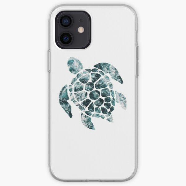 Sea Turtle - Turquoise Ocean Waves iPhone Soft Case