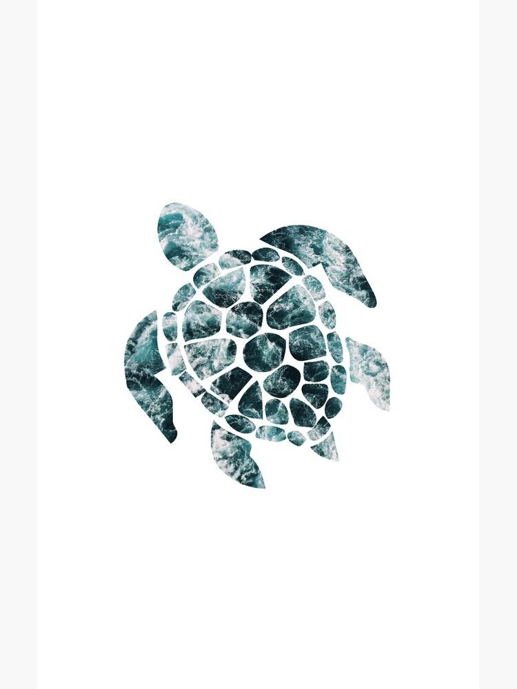 Sea Turtle - Turquoise Ocean Waves by nomadartstudio