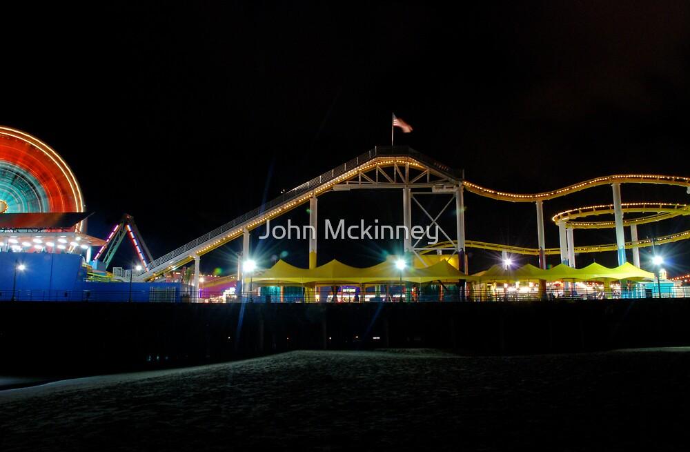 Santa Monica Pier  by John Mckinney
