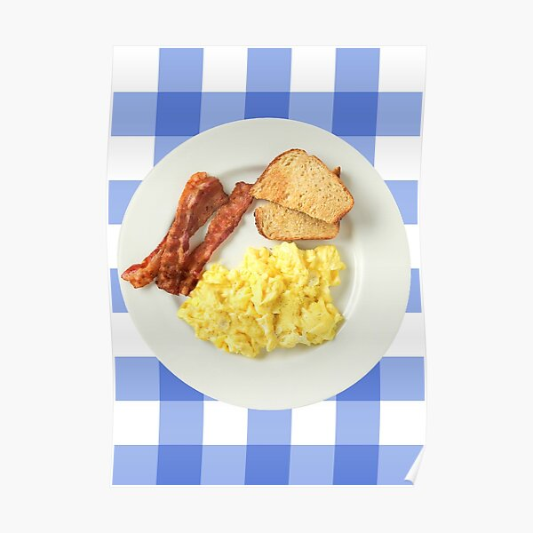 Breakfast Ron Swanson Poster Bacon Eggs And Toast Poster