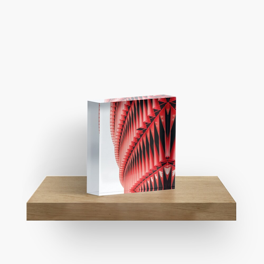 Red and white structure background design Acrylic Block