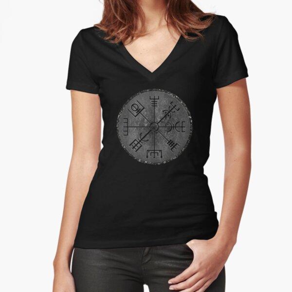 Vegvisir  Tailliertes T-Shirt mit V-Ausschnitt