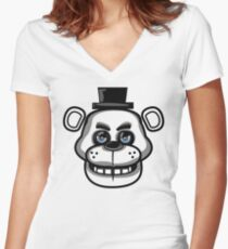 Multicolor Freddy Women's Fitted V-Neck T-Shirt
