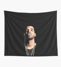 Drake Cartoon Face Tapestry Wall Tapestry