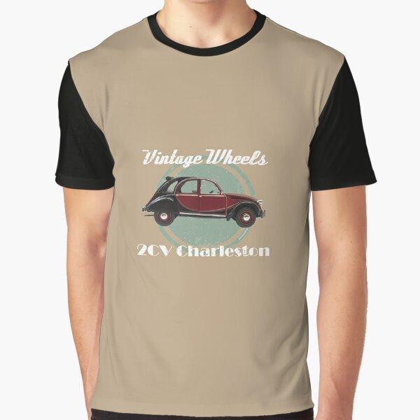 Vintage Wheels - Citroën 2CV Charleston Graphic T-Shirt