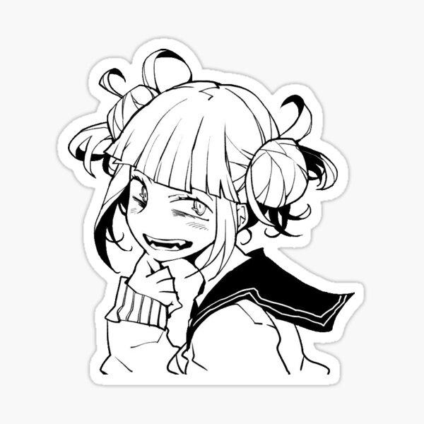 Himiko Toga Black & White My Hero Academia Sticker Sticker