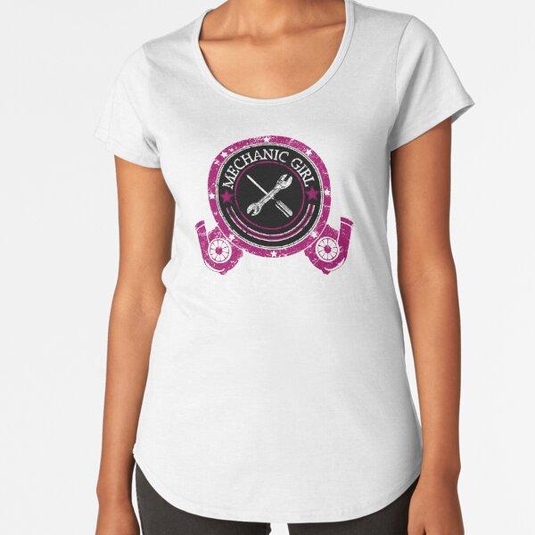 Mechanic Girl Premium Rundhals-Shirt