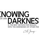 knowing your own darkness - carl jung by razvandrc