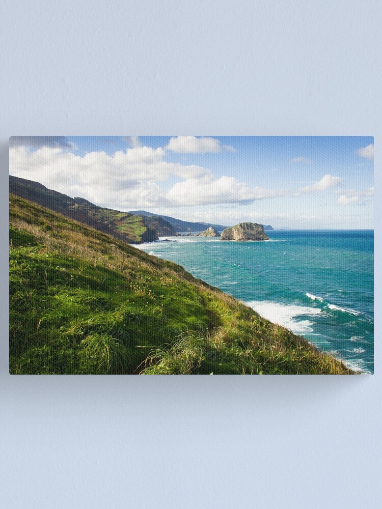 Alternate view of Basque Country coast landscape Canvas Print